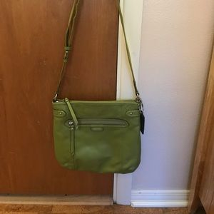 Coach Green Leather Crossbody